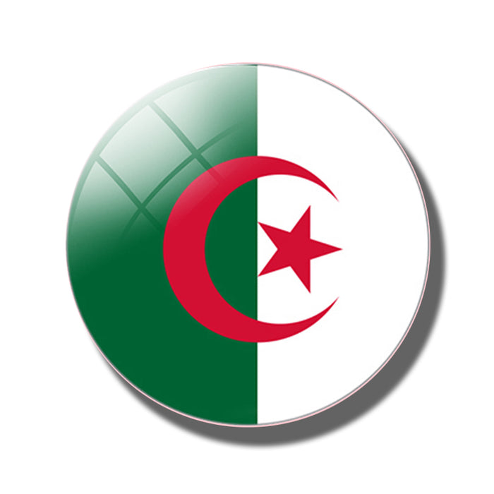People's Democratic Republic of Algeria Flag 30 mm Fridge Magnet