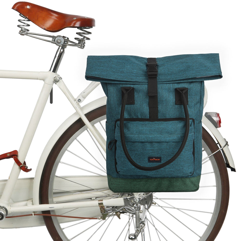 Vintage Bicycle Bag Bike Pannier Bags Cycling Rear Pack Back Seat Retro Leisure Daily Handbag Laptop Carrier