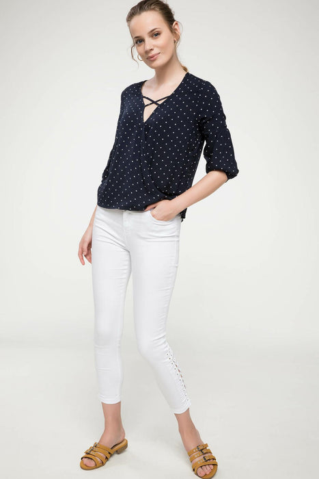 Woman Long Sleeve Blouse