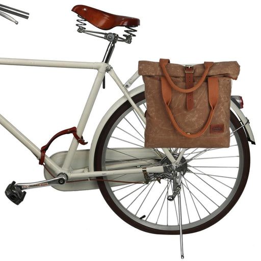 Vintage Premium Bike Bicycle Rear Seat Pannier Bag Retro Waxed Canvas Crossbody Bags Handbag City Cycling Commuting