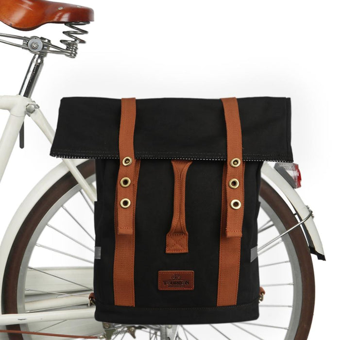 Vintage Outdoor Cycling Bicycle Bike Bag Pannier Seat Bags Shoulder Backpack Riding Leisure Daily School Bag Waterproof