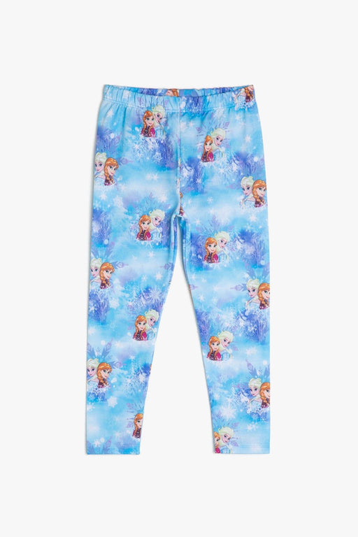 Blue Girl Children 'S Frozen Printed Leggings