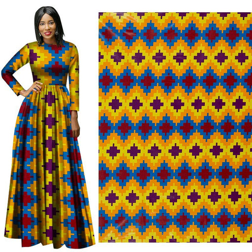 Yellow Spring African Prints Ethnic Garment Fabric