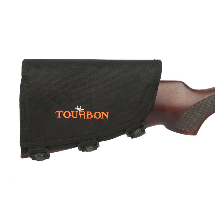 Tactical Hunting Gun Accessories Rifle Cheek Rest Pad w/3 Pads Shooting Cartridges Holder 10 Shells for Left Hand
