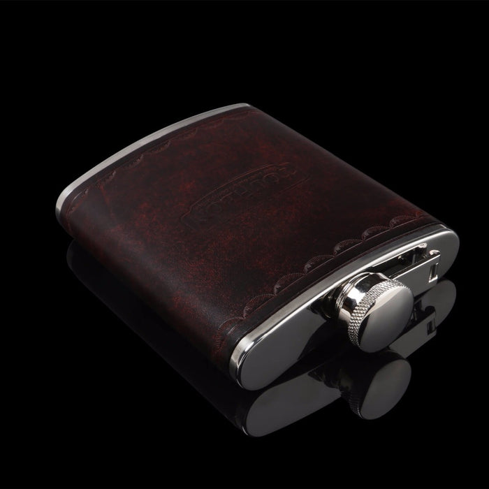 Portable Stainless Steel 6oz Hip Flask Leather Wrapped Alcohol Bottle Whisky Carrier Wine Pot Container Gifts