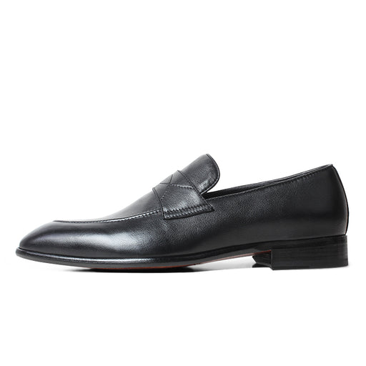 Plain Black Litchi Leather Loafer Shoes Men Handmade Blake Mans Footwear Casual Luxury Brand Wedding Driiving Zapatos