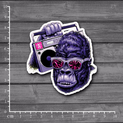 Music Gorilla Notebook/ Laptop/ Skateboard Stickers