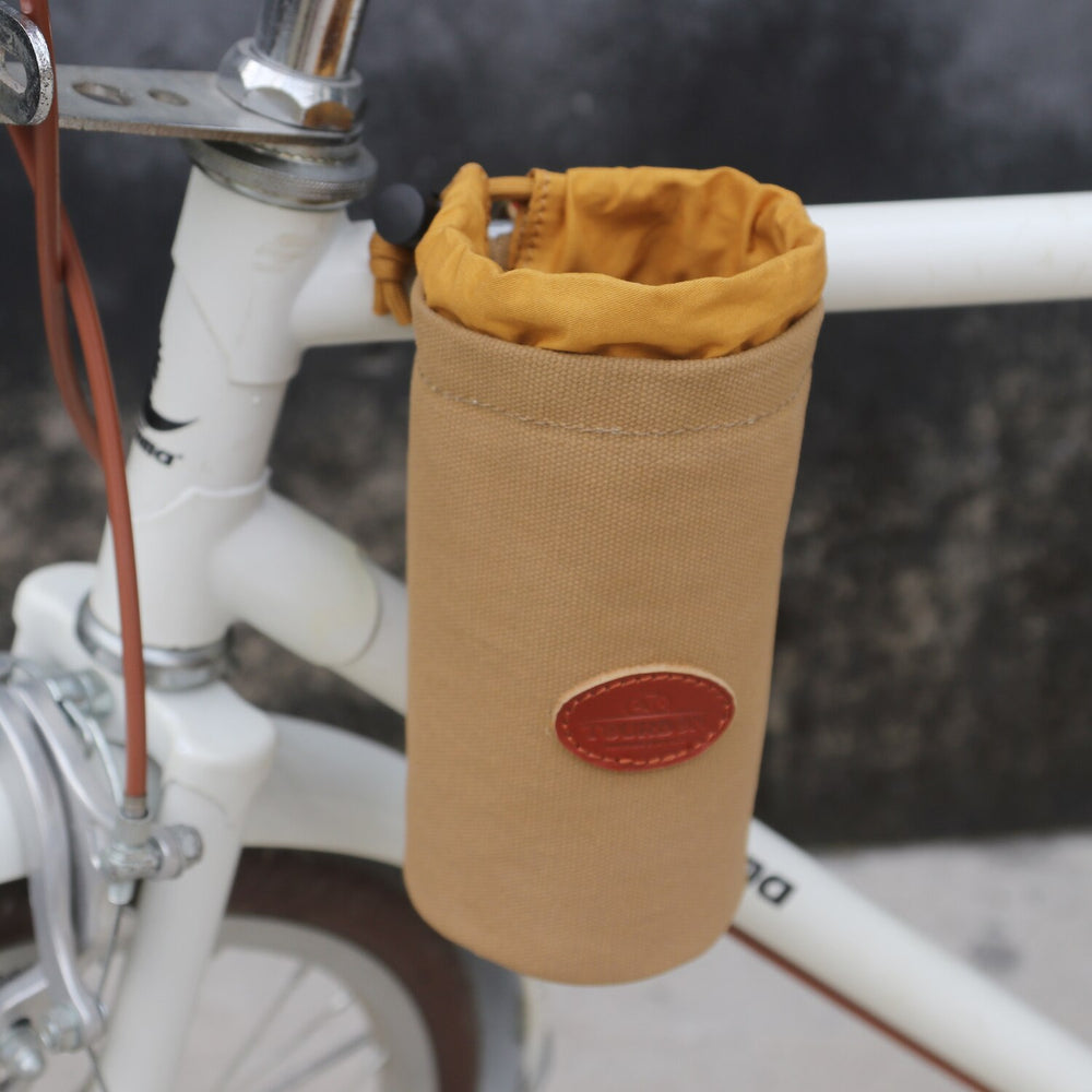 Outdoor Bike Water Cup Bag Glass Cell Phone Holder Coffee Beer Pouch Bicycle Storage Canvas Cycling Accessories