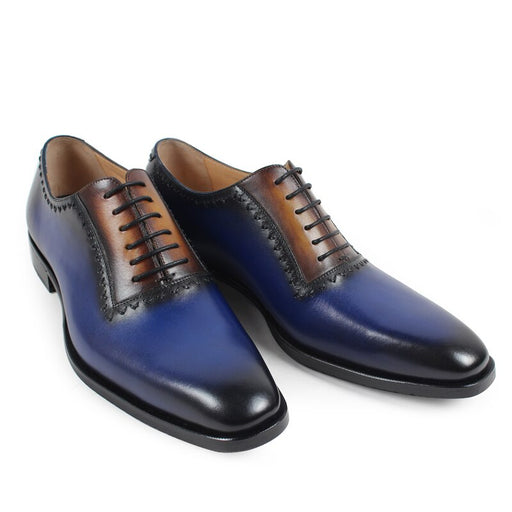 Handmade Italy Design Men's Oxford Shoes Genuine Leather Fashion Wedding Party Formal Dress Shoes Patina Bespoke Zapatos