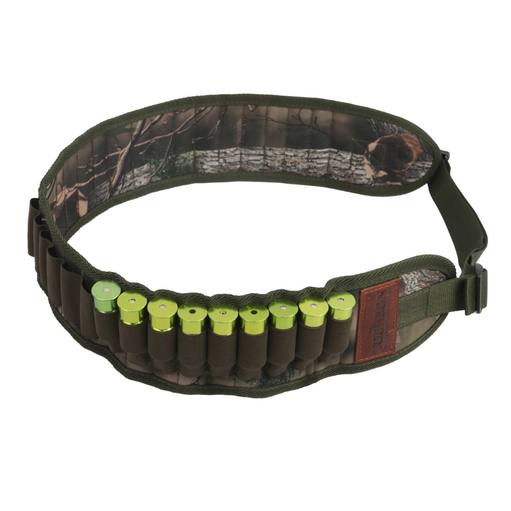 Tactical Hunting Gun Accessories 12/16/20 Gauge Bandolier Shotgun Cartridge Shells Belt Nylon Ammo Holder 30 Rounds