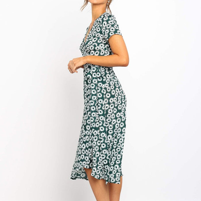 Floral Print Long Women Dress