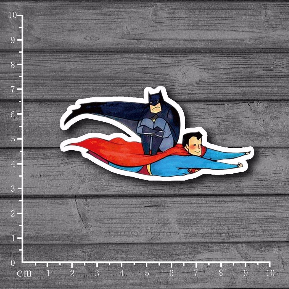 Superman Batman Stickers