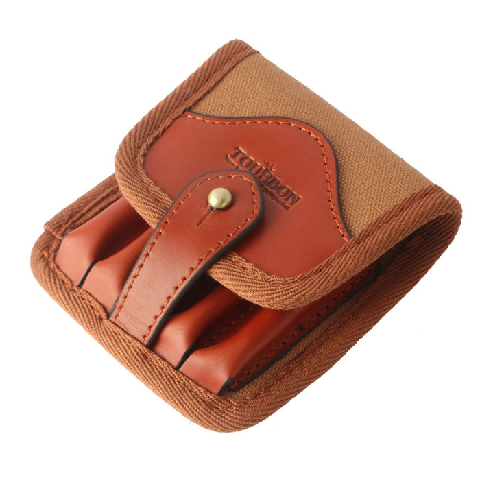 Hunting Accessories Tactical Rifle Cartridges Holder Ammo Clip Wallet Pouch Canvas & Leather Shells Carrier