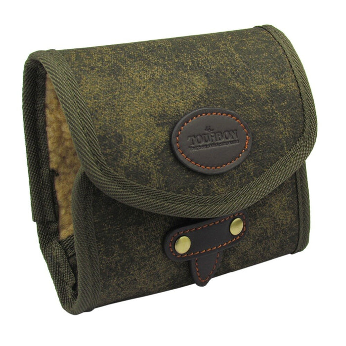 Vintage Fishing Accessories Green Canvas Leather Fishing Fly Wallet Small Case Storage Pouch