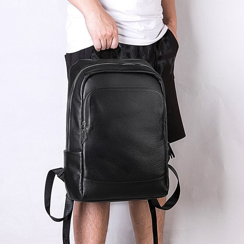 High Quality Minimalist Leather Backpack