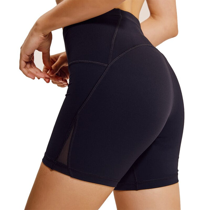 Tight Solid High Waist Yoga Shorts