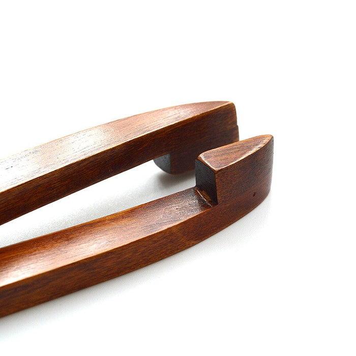 1 Pc Wooden Food Serving Tongs