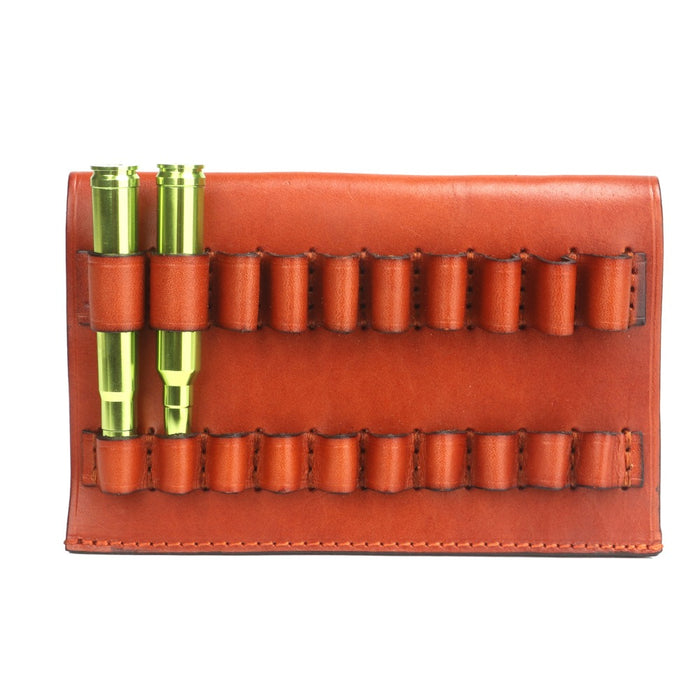Hunting Gun Accessories Tactical Rifle Cartridges Ammo Shells Holder Pouch Genuine Leather 10 Round Fit for .375 / .300