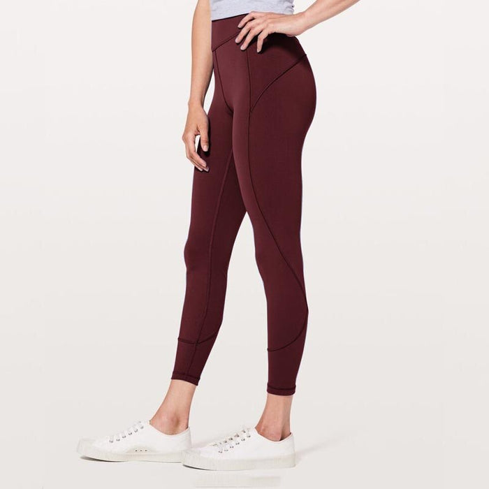 Contrast Stitch High Waist Sports Fitness Yoga Pants