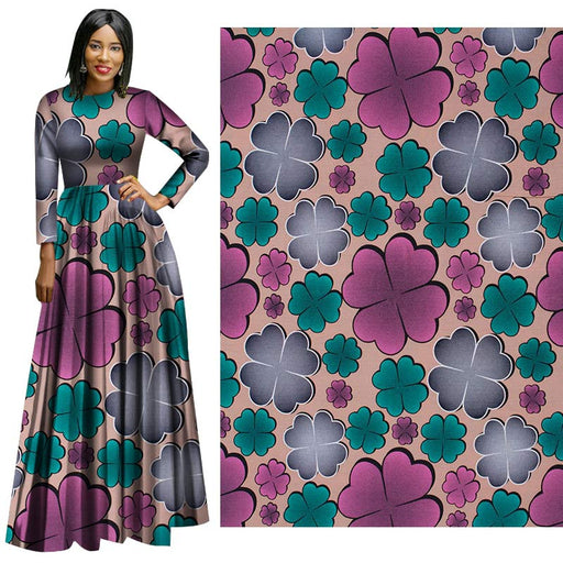 Pink Cute Flower African Prints Ethnic Garment Fabric