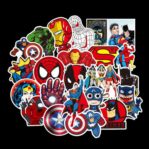 50 Pcs Super Hero Stickers