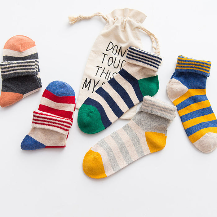 1 Pair of Unisex Cotton Ankle Socks