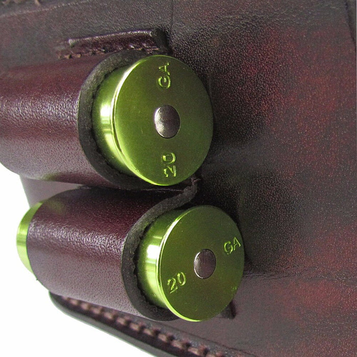 Shotgun Shooting Shells Pouch Cartridges Leather Game Bag Case with 2 Rounds 12/16/20GA Holders Hunting Gun Accessories