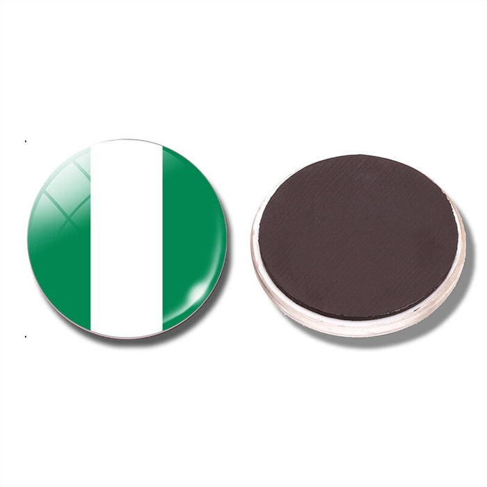 Federal Republic of Nigeria Flag 30  mm Fridge Magnet