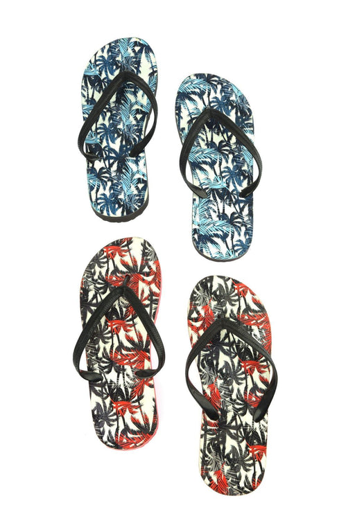 Multicolour Male 2 Pack Thong Slippers Slippers
