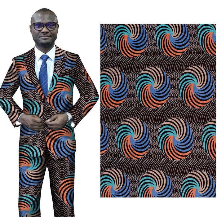 Polyester Geometric African Prints Ethnic Garment Fabric