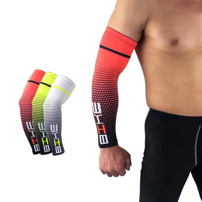 1 Pair Men Cycling/ Running Protective Arm Sleeve