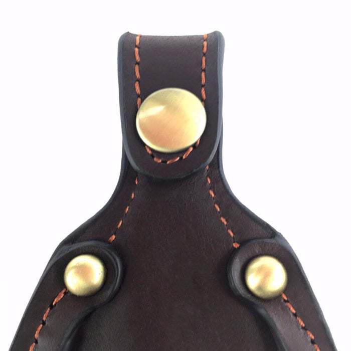 Brown Leather Toe Pad Protector Shooting Clay Shotgun Barrel Rest Hunting