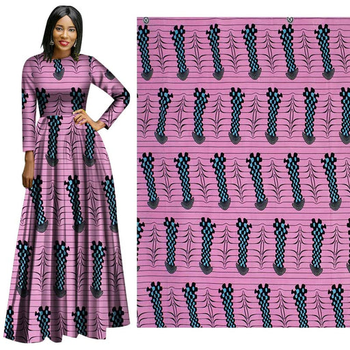 Purple Violet Geometric African Prints Ethnic Garment Fabric