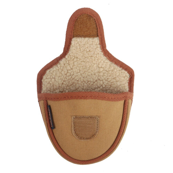 Vintage Canvas & Fleece Golf Mallet Putter Head Cover Golf Headcover Pouch Khaki Protector