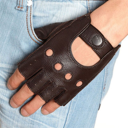 Fingerless Men Half Finger Driving Glove