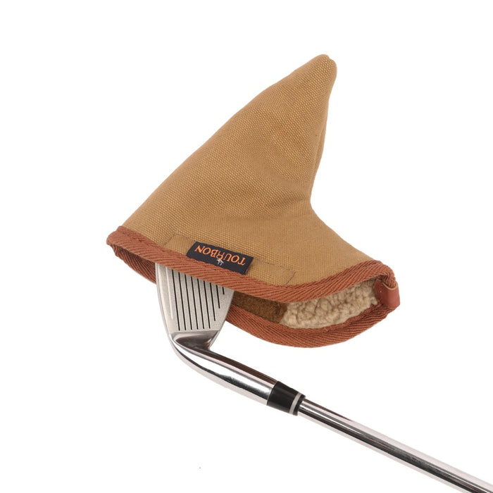 Vintage Canvas Golf Club Head Cover Carrier Fleece Padded Protection Pouch Golf Bags Holder