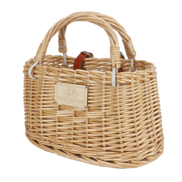 Bicycle Basket Vintage Wicker Bike Handlebar Front Bag Storage Pouch for Shopping Cycling Commuting Accessories
