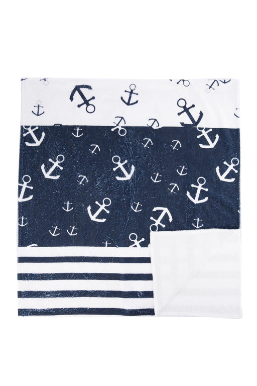 White Male Pattern Beach Towel