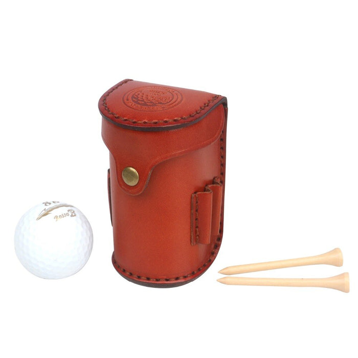Vintage Portable Golf Balls Tee Holder Storage 2 Balls Divot Tool Vegetable Leather Golf Pouch Carrier