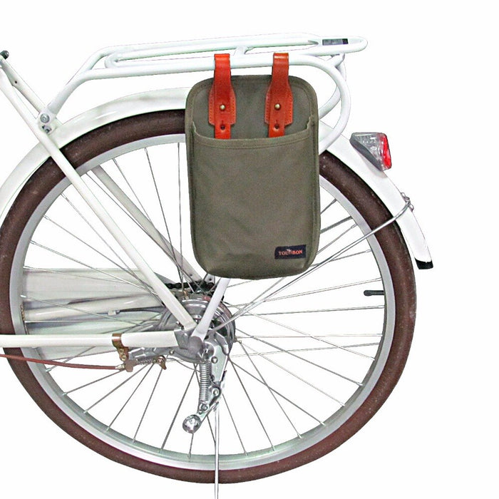 Canvas Bicycle Pouch Bike Saddle Bag Bike Accessories Waterproof U-lock Storage Case