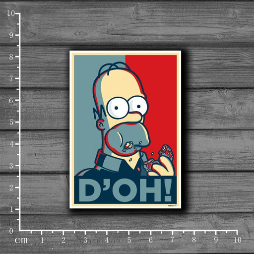 Homer Simpson Laptop/ Skateboard Stickers