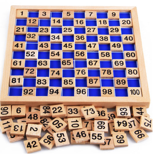 1-100 Numeral Wooden Cognitive Board