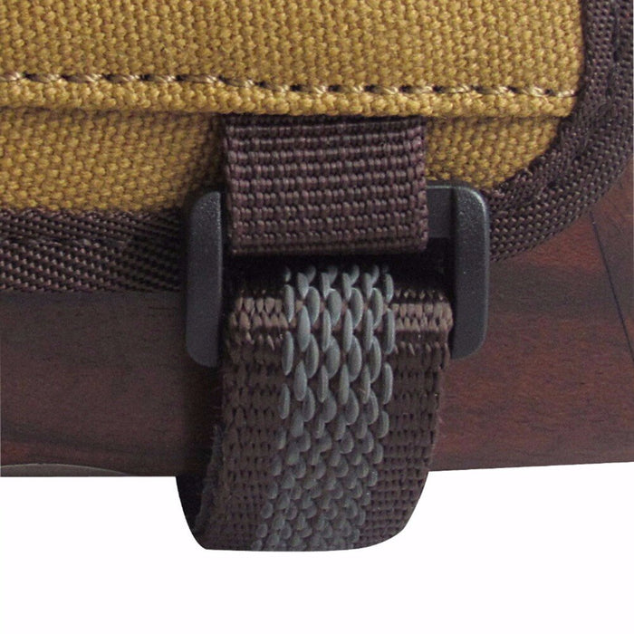 Hunting Gun Accessories Rifle Gun Buttstock Cheek Riser Rest Pad Canvas Cartridges Ammo Holder Left Handed for Shooting