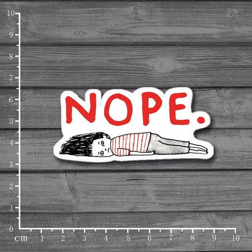 Nope Graffiti Notebook/ Laptop Sticker