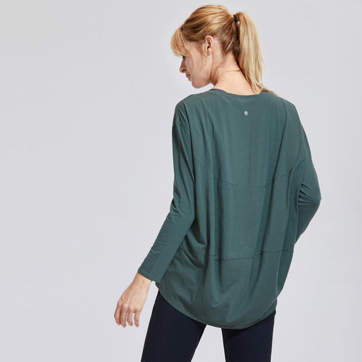 Women's Casual Long Sleeves Pima Cotton Round Reck Sports T-shirt