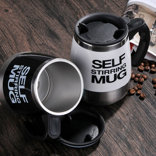 450 ml Stainless Steel Self Stirring  Automatic Electric Mug