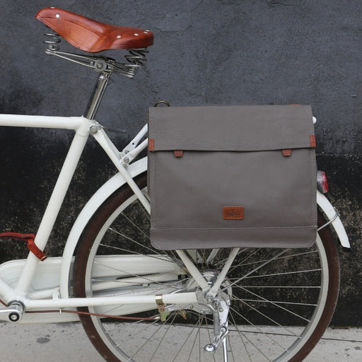 Vintage Canvas Bike Rear Seat Pannier Bag Bicycle Carrier Messenger Bags for Cycling Water Repellent Laptop Briefcase