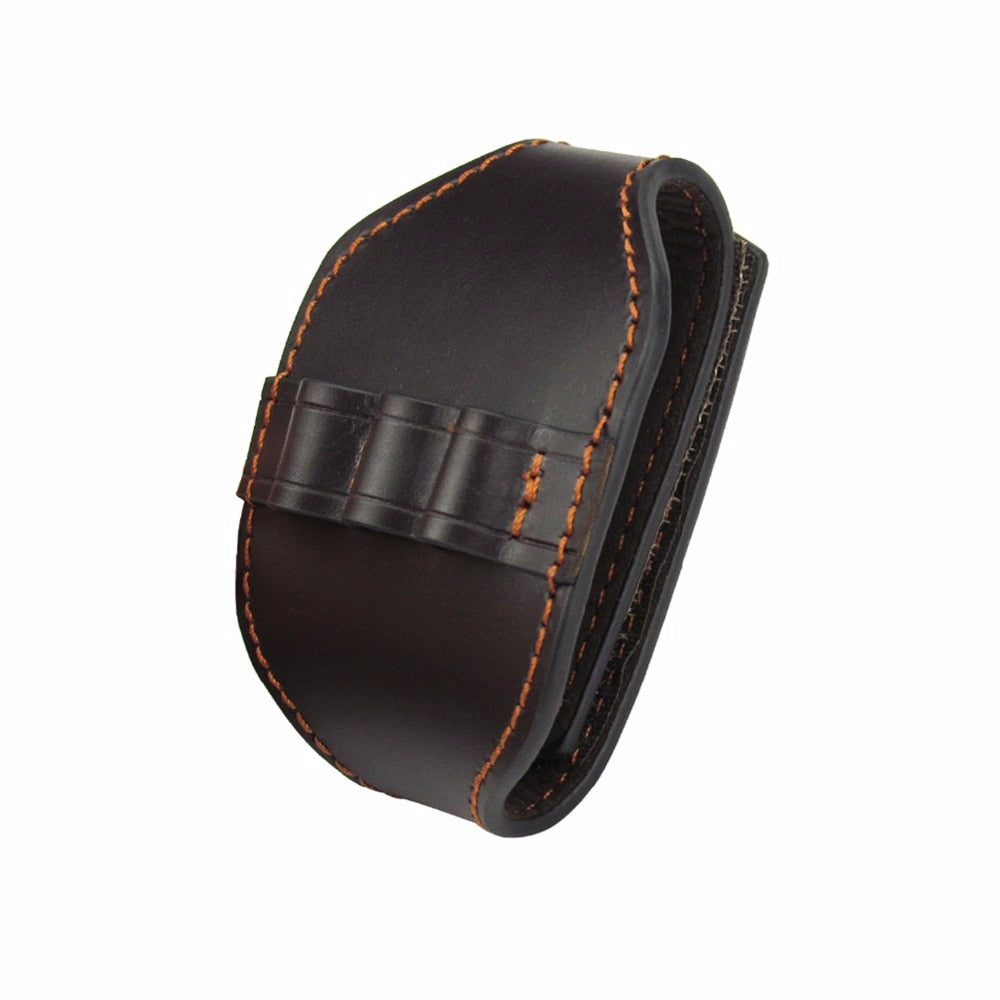 Tactical Genuine Leather Rifle 222REM Ammo Holder Cartridge Carrier Bullet Pouch Wrist Carrying for Hunting