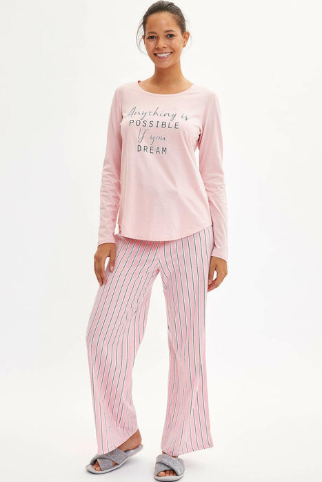 Woman Knitted Sleep-wear Sets