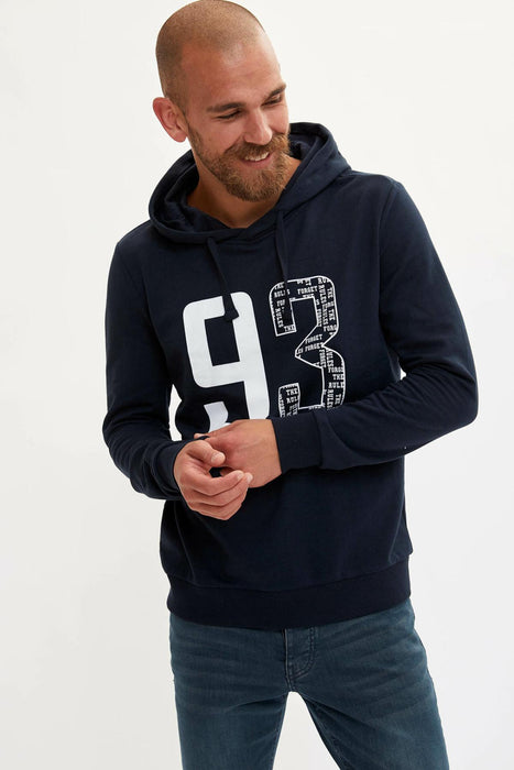 Men Fashion Lettered Pattern Hoodies